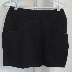 ASOS black linen mini skirt size 6
